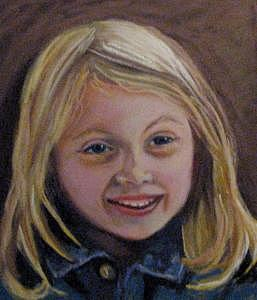 Sweet Little Girl Painting - Nicole by Mary Hollinger