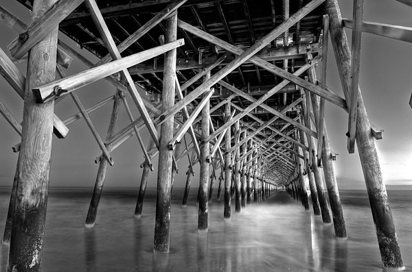 Beach Photograph - Night At The Pier  by Drew Castelhano