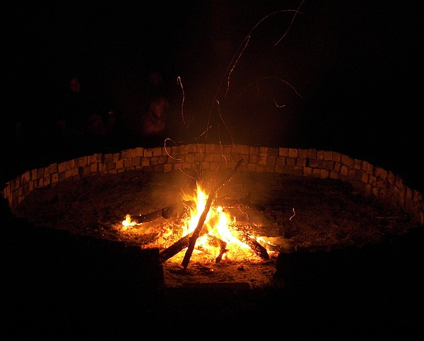 Fire Circle Photograph - Night Done Right by Charles Peck