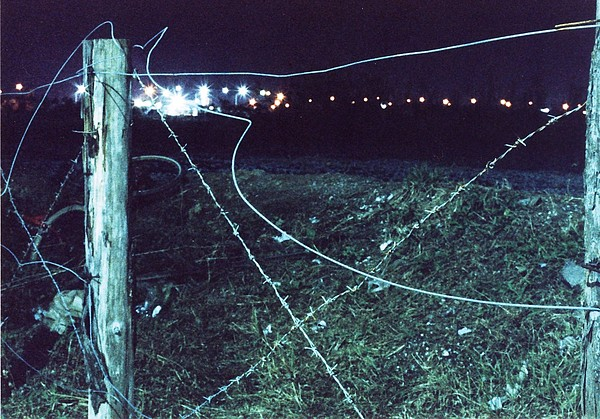 Time Exposure Photograph - Night Fence by Braven Smillie