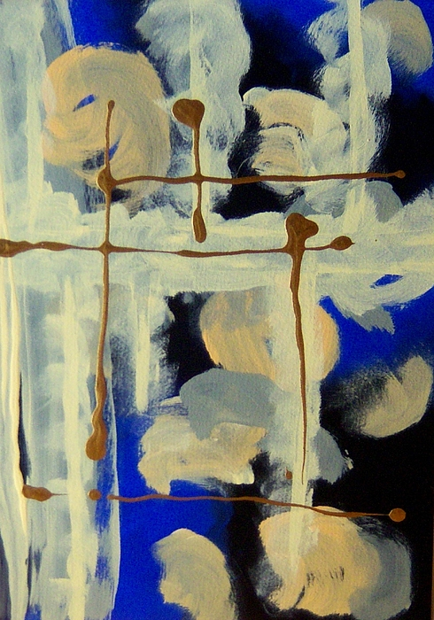Abstract Painting - Night Frame by Helene Henderson