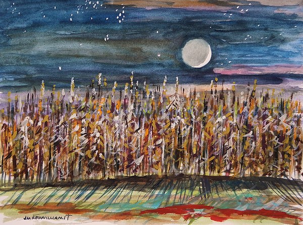 Moon Painting - Night In The Cornfield by John Williams
