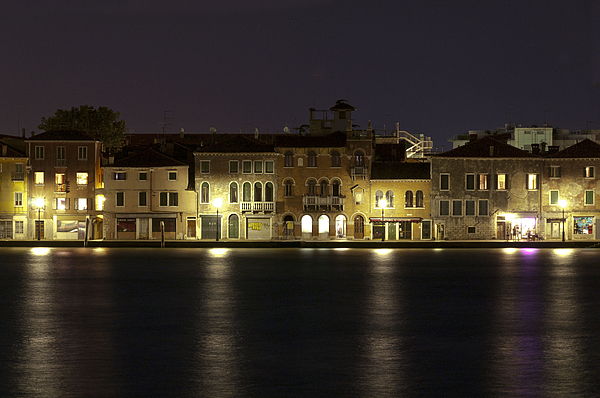 Venice Photograph - Night Lights by Marion Galt