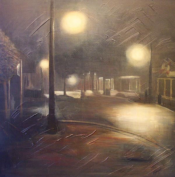 Night Painting - Night Mist by Victoria Heryet