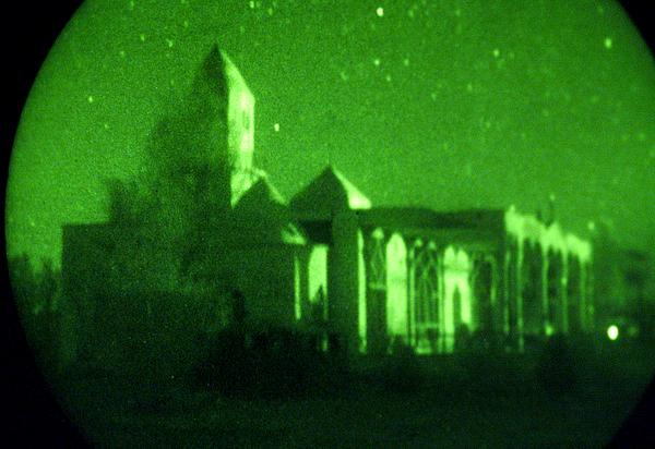 Mosque Photograph - Night Vision Mosque Kandahar by Thomas Michael Corcoran
