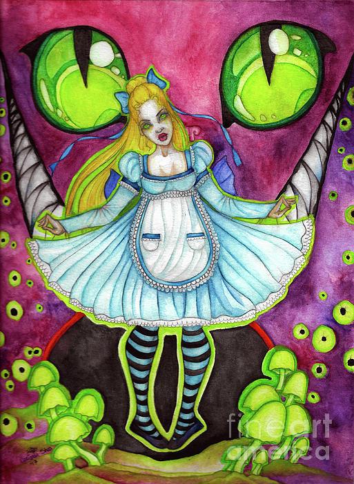 Cheshire Painting - Nightmare by Coriander Shea