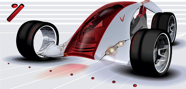 Nike Digital Art - Nike Concept Car Ai by Brian Gibbs