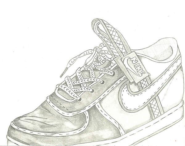 Nike Drawing by Deron Jones
