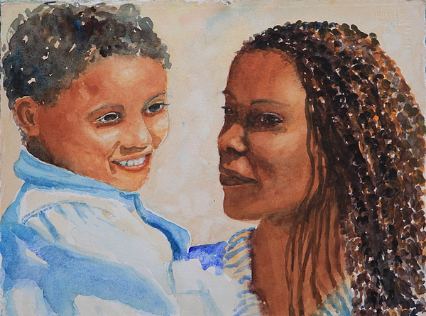 Figure Painting - Nils And Leila by Jan Rapp