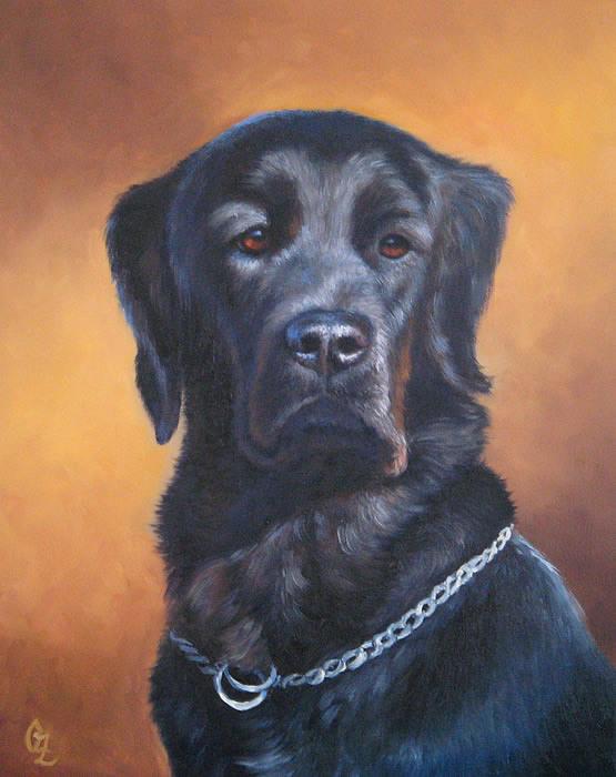 Dogs Painting - Nina by Oksana Zotkina