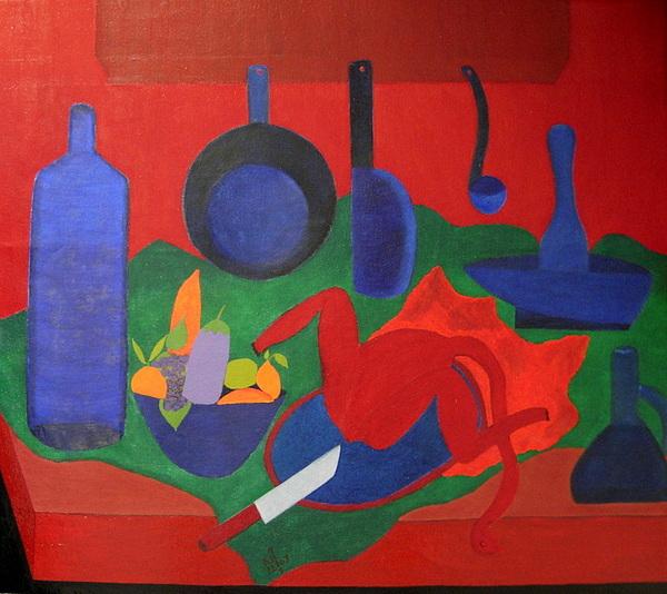 Still Life Painting - No. 319 by Vijayan Kannampilly