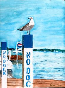 No Dock Painting by Eileen Martin