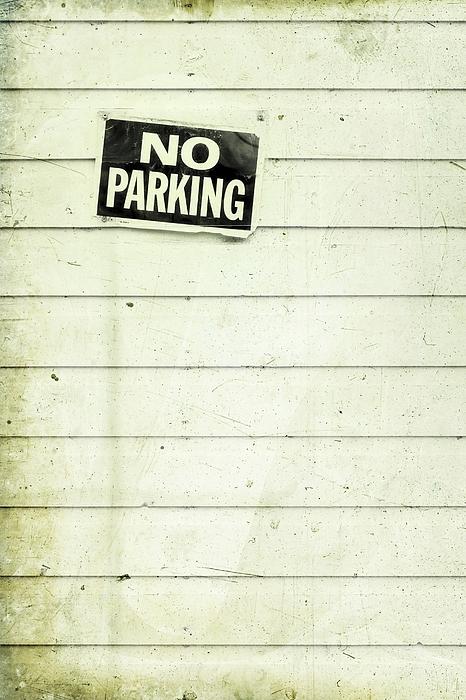 No Parking Photograph - No Parking by Priska Wettstein