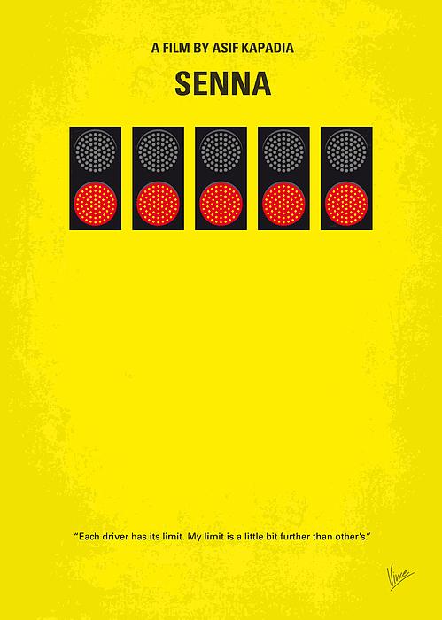 Senna Digital Art - No075 My Senna Minimal Movie Poster by Chungkong Art
