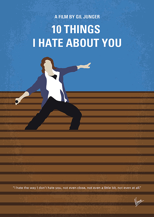 10 Kitchen And Home Decor Items Every 20 Something Needs: No850 My 10 Things I Hate About You Minimal Movie Poster