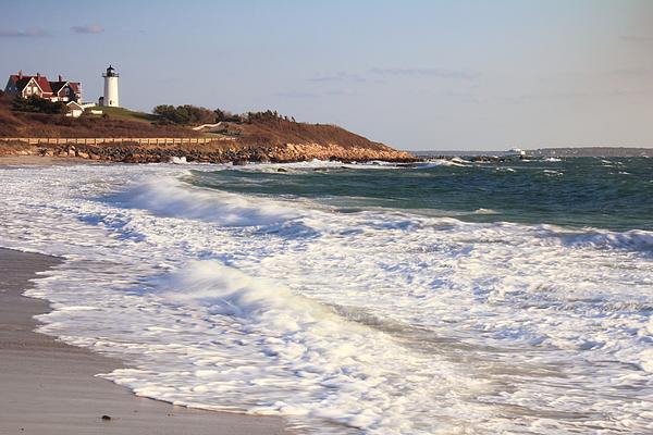 Lighthouse Photograph - Nobska Point Seascape by Roupen  Baker