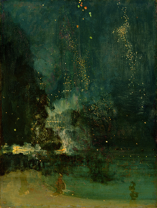 Nocturne Painting - Nocturne In Black And Gold - The Falling Rocket by James Abbott McNeill Whistler