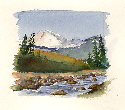Nooksack Painting by Ron Bates