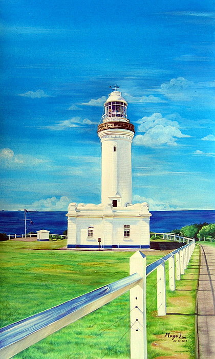 Light House Painting - Norah Head Light House by Mago Lee