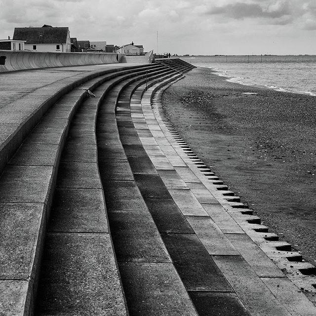 Monochromephotography Photograph - North Beach, Heacham, Norfolk, England by John Edwards