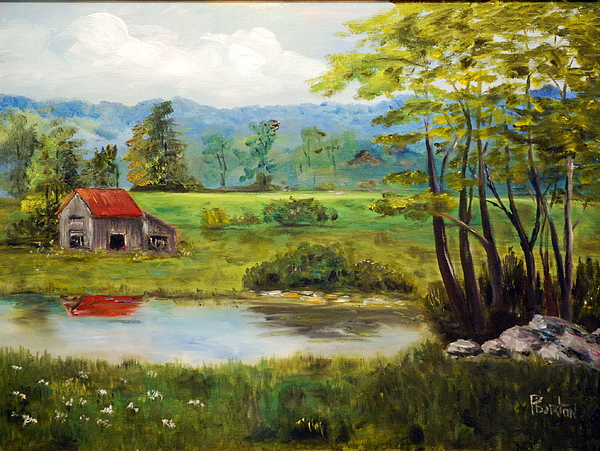 North Carolina Farm Painting - North Carolina Farm by Phil Burton