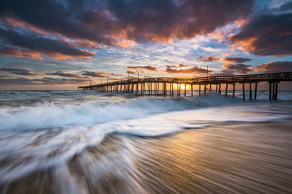 North carolina outer banks seascape nags head pier obx nc for Fishing outer banks nc