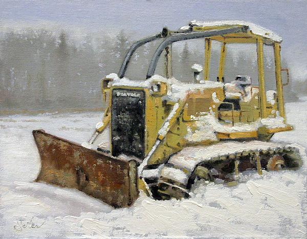Landscape Painting - Northwoods Forest Skidder by Larry Seiler