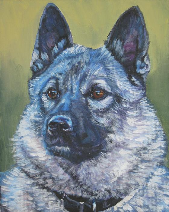 Norwegian Elkhound Painting - Norwegian Elkhound by Lee Ann Shepard