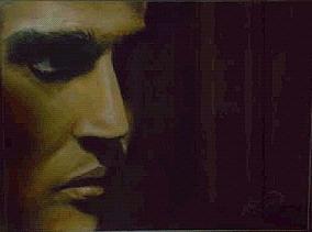 Not An Elvis Impersonator Pastel by Andrea Noel Kroenig