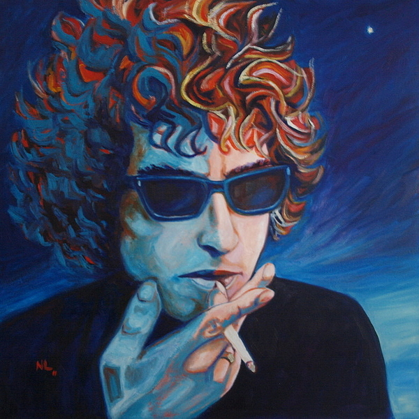 Bob Dylan Painting - Not Dark Yet by Natasha Laurence