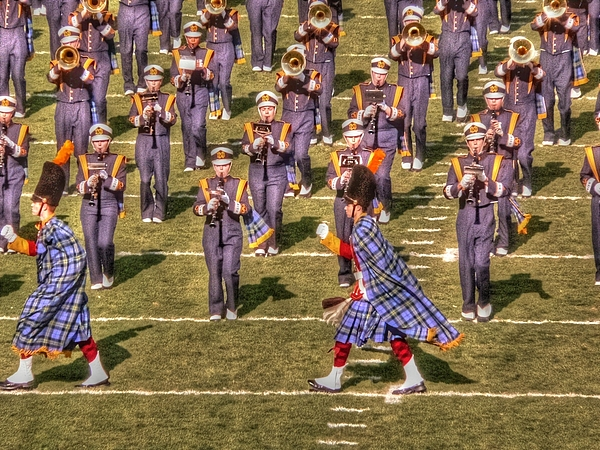 Notre Dame Photograph - Notre Dame Marching Band by David Bearden