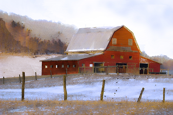 November Photograph - November Barn by Ron Jones