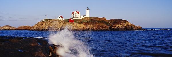 Architecture Photograph - Nubble Lighthouse In Daylight by Jeremy Woodhouse