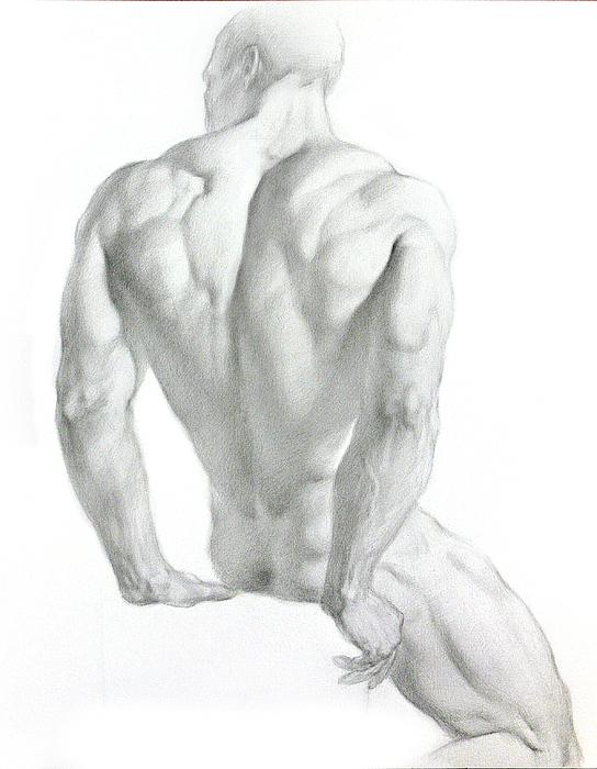 Nude Drawing - Nude 3 by Valeriy Mavlo