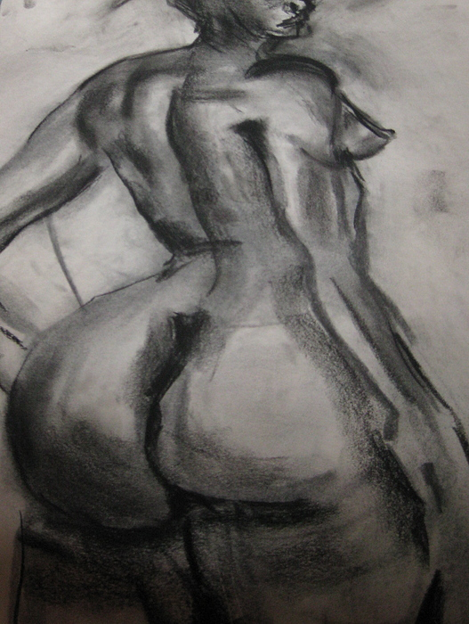 Nude girls buttocks drawings — pic 5