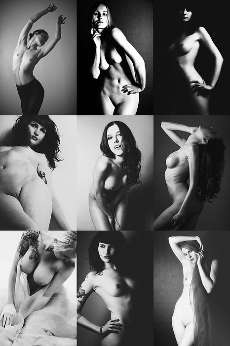 Nude Photograph - Nude Bw Collage  by Falko Follert