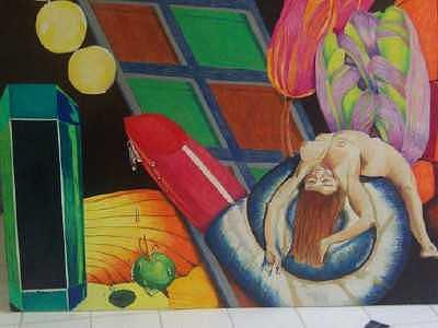 Nude Drawing - Nude Collage by Sherri Ward