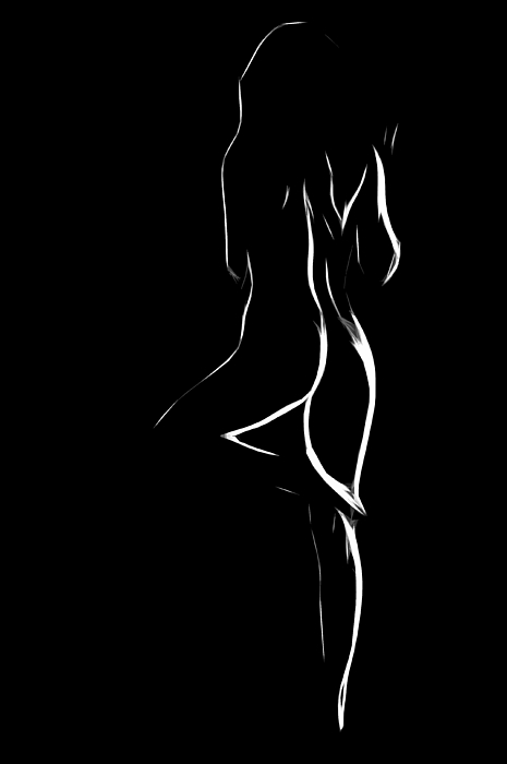 Nude In White And Black Painting by Steve K