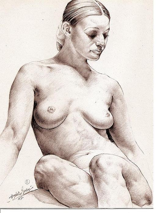Nude Model4 Drawing by Haydar Al-yasiry