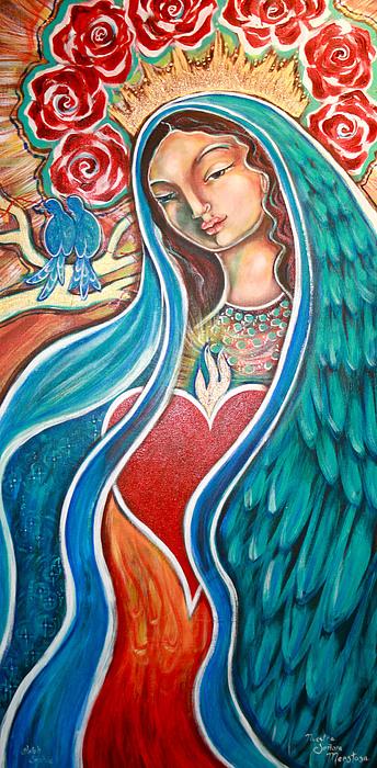 Our Lady Painting - Nuestra Senora Maestosa by Shiloh Sophia McCloud