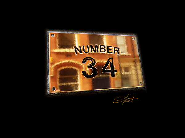 Number Photograph - Number 34 by Charles Stuart