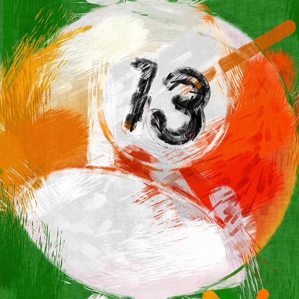 13 Photograph - Number Thirteen Billiards Ball Abstract by David G Paul