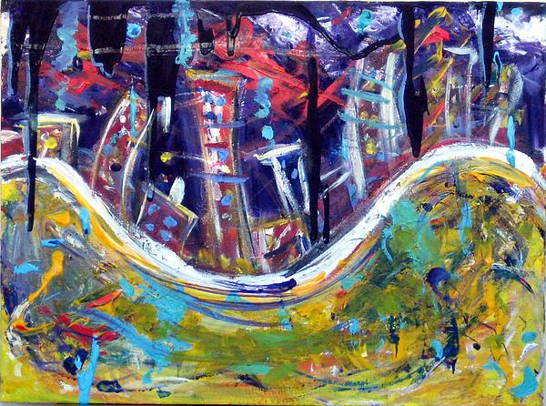Nyc Impressions 4 Painting by Jason Gluskin