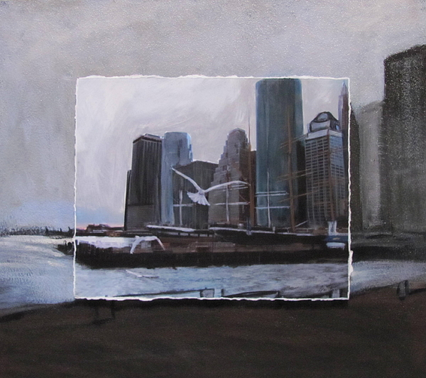 Nyc Mixed Media - Nyc Pier 11 Layered by Anita Burgermeister