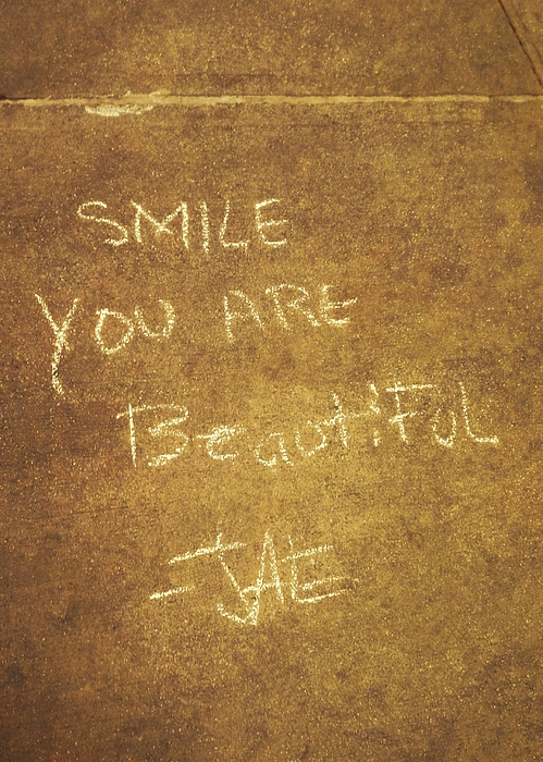 Chalk Photograph - Nyc Street Art Quote by JAMART Photography