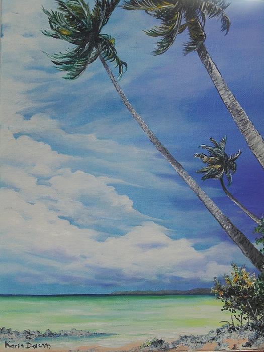Nylon Pool Tobago. Painting by Karin  Dawn Kelshall- Best