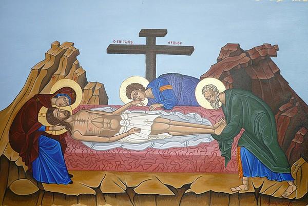Jesus Painting - O Epitafos Jesus by Marinella Owens