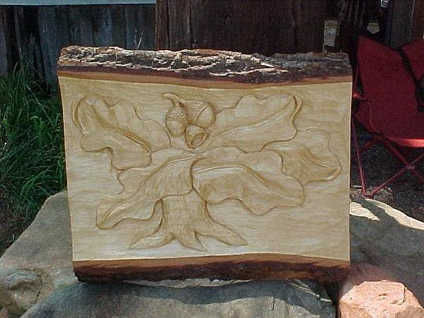 Oak Tree Relief by Christina White