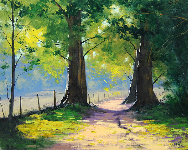 Oak Tree Trail Painting By Graham Gercken