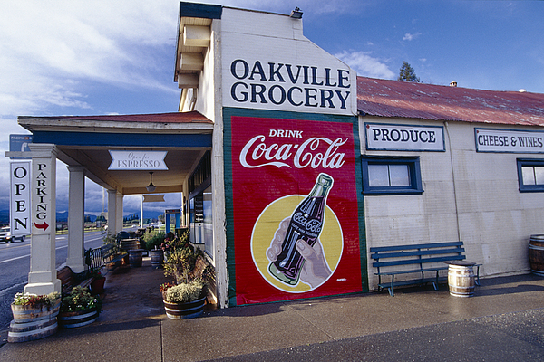 Travel Photograph - Oakville Grocery Store Napa Valley by George Oze